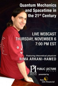 LIVE WEBCAST – Nima Arkani-Hamed