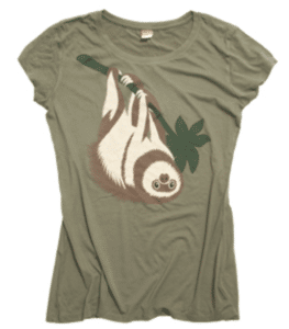 science gifts wwf-sloth-shirt