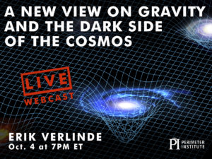 LIVE WEBINAR: A New View on Gravity, Erik Verlinde